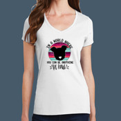 Ladies V Neck Be Kind Tee